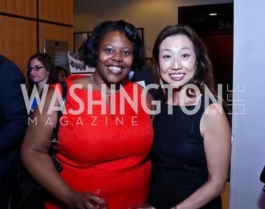 DC Schools Chancellor Kaya Henderson, Julie Koo. Photo by Tony Powell. 2014 Tim Russert Congressional Dinner. JW Marriott. May 22, 2014