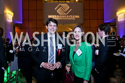 Milos Milosevic, Jessica Schneickert. Photo by Tony Powell. 2014 Tim Russert Congressional Dinner. JW Marriott. May 22, 2014