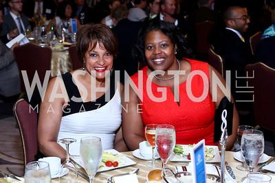 Debbi Jarvis, DC Schools Chancellor Kaya Henderson. Photo by Tony Powell. 2014 Tim Russert Congressional Dinner. JW Marriott. May 22, 2014