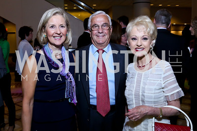 Diane Schaefer, Climis and Carol Lascaris. Photo by Tony Powell. 2014 Tim Russert Congressional Dinner. JW Marriott. May 22, 2014