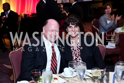 Edward Allard and Rep. Lucille Roybal-Allard. Photo by Tony Powell. 2014 Tim Russert Congressional Dinner. JW Marriott. May 22, 2014