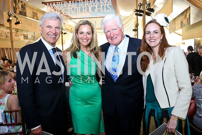 Stuart Bernstein, Amy Aronson, Rep. Jim Moran, Kate Goodall. Photo by Tony Powell. 2014 Trust for the National Mall Luncheon. May 1, 2014