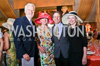 Jack Davies, Marcie and Neil Cohen, Kay Kendall. Photo by Tony Powell. 2014 Trust for the National Mall Luncheon. May 1, 2014