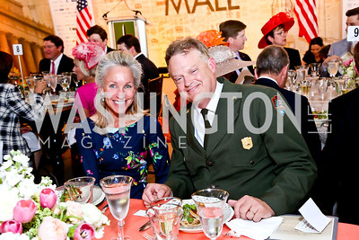 Angie Marriott, National Mall Superintendent Robert Vogel. Photo by Tony Powell. 2014 Trust for the National Mall Luncheon. May 1, 2014