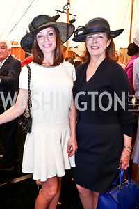 Kristin Cecchi, Ginger Pape. Photo by Tony Powell. 2014 Trust for the National Mall Luncheon. May 1, 2014