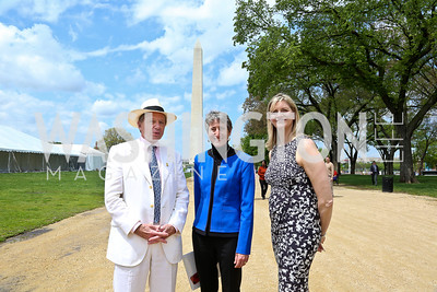 Chip Akridge, Secretary of the Interior Sally Jewell, Caroline Cunningham. Photo by Tony Powell. 2014 Trust for the National Mall Luncheon. May 1, 2014