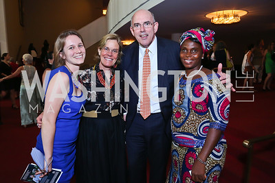 Kristin Caspar, Molly Cashin, Africare's Steve Cashin, Sisyamah Zawu. Photo by Tony Powell. 2014 Vital Voices Global Leadership Awards. Kennedy Center. June 17, 2014