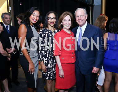 Lauren Wooden, Traci Blunt, Donna and Mack McLarty. Photo by Tony Powell. 2014 Vital Voices Global Leadership Awards. Kennedy Center. June 17, 2014