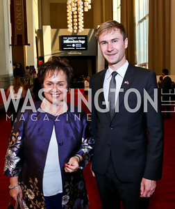 Liechtenstein Amb. Claudia Fritsche, Nils Vogt. Photo by Tony Powell. 2014 Vital Voices Global Leadership Awards. Kennedy Center. June 17, 2014