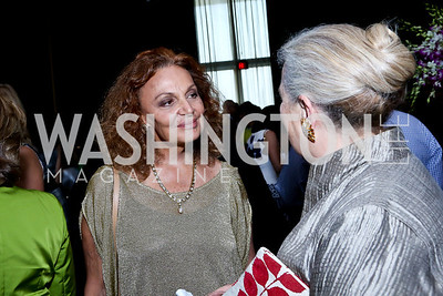 Diane von Furstenberg, Joan Tobin. Photo by Tony Powell. 2014 Vital Voices Global Leadership Awards. Kennedy Center. June 17, 2014