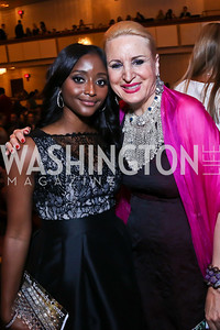 CNN's Isha Sesay, Dr. Christine Warnke. Photo by Tony Powell. 2014 Vital Voices Global Leadership Awards. Kennedy Center. June 17, 2014