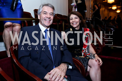 British Amb. Peter Westmacott and Susie Westmacott. Photo by Tony Powell. 2014 Vital Voices Global Leadership Awards. Kennedy Center. June 17, 2014