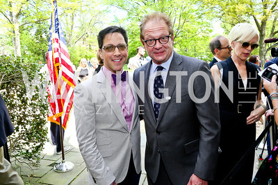 Scandal's Dan Bucatinsky and Jeff Perry. Photo by Tony Powell. WHCD Garden Brunch. Ein Residence. May 3, 2014