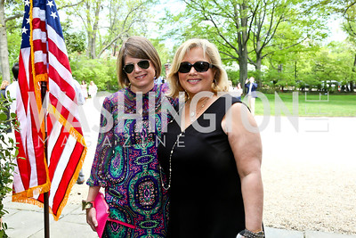 Campbell Spencer, Hilary Rosen. Photo by Tony Powell. WHCD Garden Brunch. Ein Residence. May 3, 2014