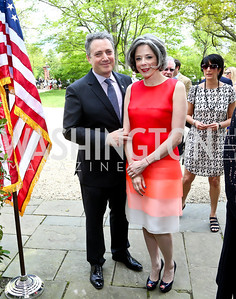Stephen Kessler, Heather Podesta. Photo by Tony Powell. WHCD Garden Brunch. Ein Residence. May 3, 2014