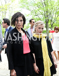 Pussy Riot's Nadezhda Tolokonnikova and Maria Alyokhina. Photo by Tony Powell. WHCD Garden Brunch. Ein Residence. May 3, 2014