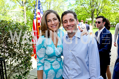 Rachel Goslins and Julius Genachowski. Photo by Tony Powell. WHCD Garden Brunch. Ein Residence. May 3, 2014