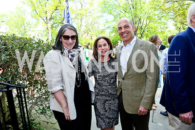 Mandy Grunwald, Melissa Moss and Jonathan Silver. Photo by Tony Powell. WHCD Garden Brunch. Ein Residence. May 3, 2014
