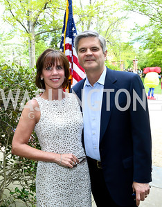 Jean and Steve Case. Photo by Tony Powell. WHCD Garden Brunch. Ein Residence. May 3, 2014