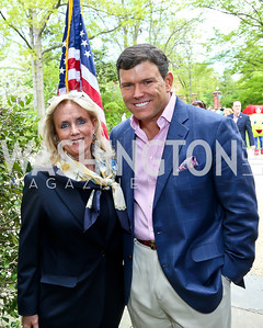 Debbie Dingell, Bret Baier. Photo by Tony Powell. WHCD Garden Brunch. Ein Residence. May 3, 2014