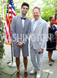 Justin Mikita and Modern Family's Jesse Tyler Ferguson. Photo by Tony Powell. WHCD Garden Brunch. Ein Residence. May 3, 2014