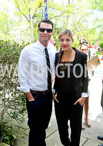 Scandal's Scott Foley and Actress Marika Dominczyk. Photo by Tony Powell. WHCD Garden Brunch. Ein Residence. May 3, 2014