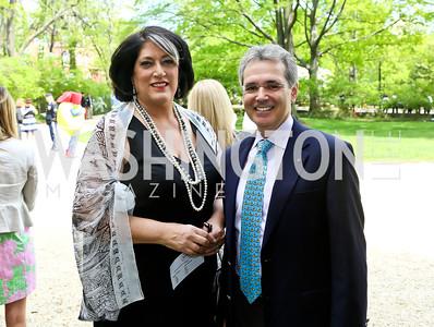 Tammy Haddad, Dr. Ronald DePinto. Photo by Tony Powell. WHCD Garden Brunch. Ein Residence. May 3, 2014