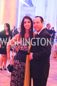 Yasmin Naghash, Richard Strauss, , MSNBC hosts an afterparty for the White House Correspondents Association Dinner.  National Building Museum.  May 3, 2014.  Photo by Ben Droz