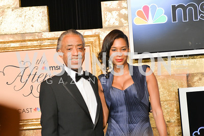 Al Sharpton, Aisha McShaw, MSNBC hosts an afterparty for the White House Correspondents Association Dinner.  National Building Museum.  May 3, 2014.  Photo by Ben Droz