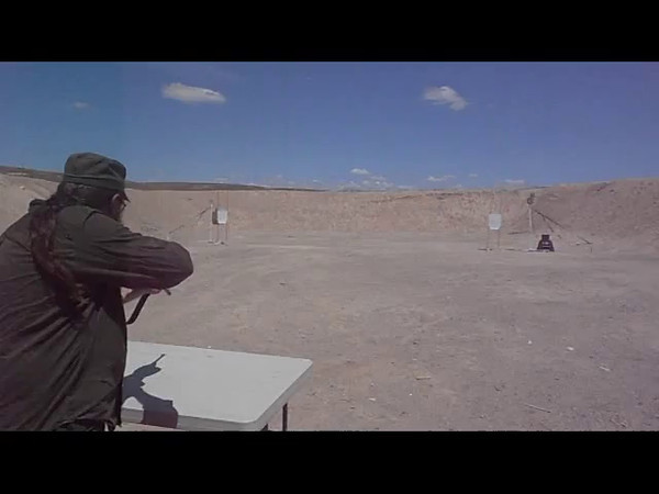 John Lilly shooting a M1 Carbine.
