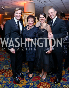 Dr. Michael Olding, Liechtenstein Amb. Claudia Fritsche, Veronica Valencia and Arturo Sarukhan. Photo by Tony Powell. 2014 WPA Gala. Wardman Park. May 10, 2014