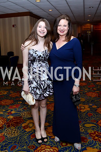 Hallie and WPA President Jenny Bilfield. Photo by Tony Powell. 2014 WPA Gala. Wardman Park. May 10, 2014
