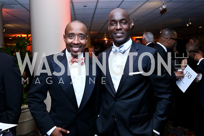Patrick McCoy, Joseph Otim. Photo by Tony Powell. 2014 WPA Gala. Wardman Park. May 10, 2014