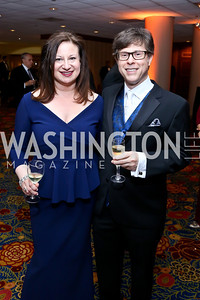 WPA President Jenny Bilfield, Joel Friedman. Photo by Tony Powell. 2014 WPA Gala. Wardman Park. May 10, 2014