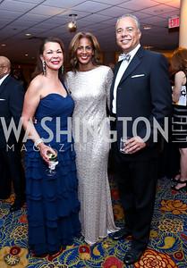 Linda Greene, Daphne and Bill Jarvis. Photo by Tony Powell. 2014 WPA Gala. Wardman Park. May 10, 2014