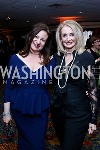 WPA President Jenny Bilfield, Rhona Friedman. Photo by Tony Powell. 2014 WPA Gala. Wardman Park. May 10, 2014