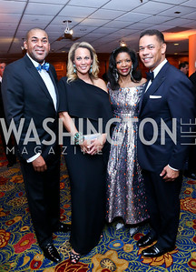Omar Karriem, Patricia Howell, Pamela Joyner, Lloyd Howell. Photo by Tony Powell. 2014 WPA Gala. Wardman Park. May 10, 2014