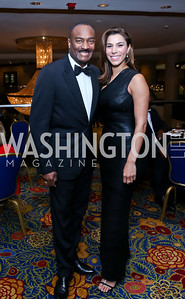 Reginald Van Lee, Reem Sadik. Photo by Tony Powell. 2014 WPA Gala. Wardman Park. May 10, 2014
