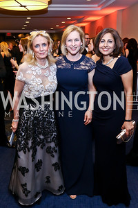 Debbie Dingell, Sen. Kirsten Gillibrand, Neera Tanden. Photo by Tony Powell. WHCD Pre-parties. Hilton Hotel. May 3, 2014