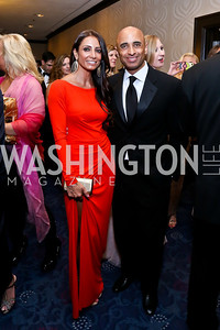 Abeer Al Otaiba and UAE Amb. Yousef Al Otaiba. Photo by Tony Powell. WHCD Pre-parties. Hilton Hotel. May 3, 2014