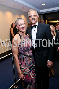 Sharon Malone, Attorney General Eric Holder. Photo by Tony Powell. WHCD Pre-parties. Hilton Hotel. May 3, 2014