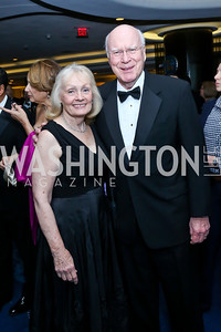 Marcelle Leahy and Sen. Patrick Leahy. Photo by Tony Powell. WHCD Pre-parties. Hilton Hotel. May 3, 2014
