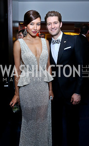 Renee Puente and fiancee Matthew Modine. Photo by Tony Powell. WHCD Pre-parties. Hilton Hotel. May 3, 2014