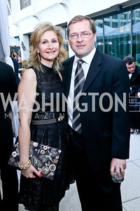 Samah and Grover Norquist. Photo by Tony Powell. WHCD Pre-parties. Hilton Hotel. May 3, 2014