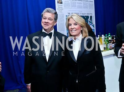 John Coale and Greta Van Susteren. Photo by Tony Powell. WHCD Pre-parties. Hilton Hotel. May 3, 2014