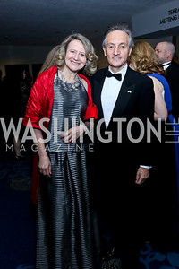 Laura Denise Bisogniero and Italian Amb. Claudio Bisogniero. Photo by Tony Powell. WHCD Pre-parties. Hilton Hotel. May 3, 2014