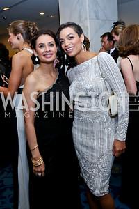Maria Teresa Kumar, Actress Rosario Dawson. Photo by Tony Powell. WHCD Pre-parties. Hilton Hotel. May 3, 2014