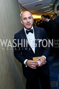 The Today Show's Matt Lauer. Photo by Tony Powell. WHCD Pre-parties. Hilton Hotel. May 3, 2014
