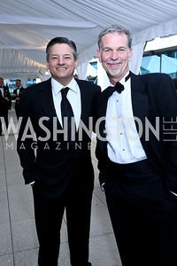 Netflix chief content officer Ted Sarandos, Netflix CEO Reed Hastings. Photo by Tony Powell. WHCD Pre-parties. Hilton Hotel. May 3, 2014