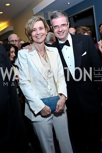 Sophie Delattre and French Amb. Francois Delattre. Photo by Tony Powell. WHCD Pre-parties. Hilton Hotel. May 3, 2014
